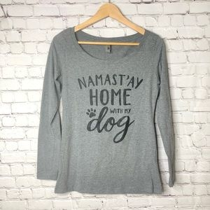 Namastay Home With My Dog Graphic Top